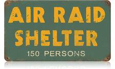 Tin Sign Shelter Air Raid 40x30cm