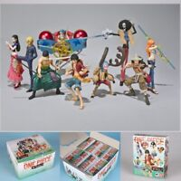 9PS/SET One Piece Monkey·D·Luffy The straw hat Pirates Anime Action Figures Toys