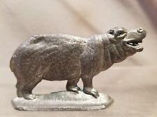 Vintage Lead Metal Hippo Hippopotamus Figurine Figure