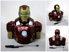 IRONMAN Salvadanaio Coin Money Bank IRON MAN Avengers Bust Diamon Select Toys