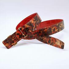 Handmade 42mm 2-Sided genuine Crocodile Skin belt size 115 free shipping