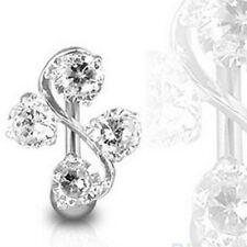 Body Piercing Crystal Rhinestone Dangle Navel Belly Button Ring Barbell Jewelry
