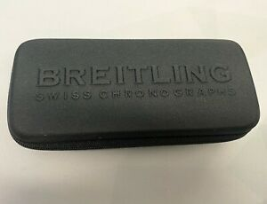 Breitling black service or travel watch case with foam insert