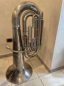 Basso tuba sibmahillon silver 4 pistoni - Altezza 101 cm - Campana 45 cm