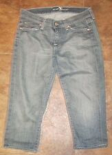 Seven 7 for all Mankind Capri Pants Shorts ROXANNE Size 26 Stretch Jeans AUTHENT