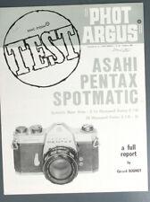 PHOT ARGUS ASAHI PENTAX SPOTMATIC, G BOUHOT/135092