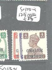 INDIA GWALIOR (P0604B) KGVI  SG 123-4, 125  MOG