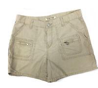 Women's Polo Jeans Co Ralph Lauren Cargo Shorts Size 8 Khaki Tan 100% Cotton