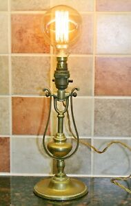 Antique/Vintage Nautical Brass Gimbal Ships Light Marine Wall Hung or Table Lamp
