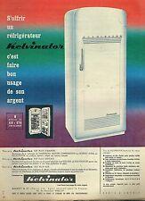 I- Publicité Advertising 1958 Le Refrigerateur Kelvinator