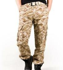 Hot Mens Camouflage Cargo Pants Outdoor Military Tactical Combat Camo Pants sz