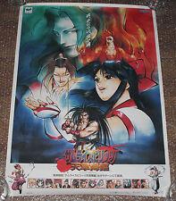 VERY RARE Samurai Showdown IV Sega Saturn Promo Poster Spirits Bushido Blade SNK