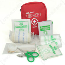 Emergency First Aid Midi Pack Bag Pouch - Red - Hiking Camping Outdoors