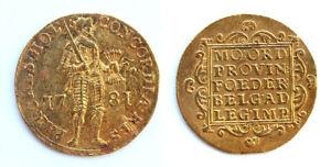 *SC*   NETHERLANDS - LOVELY GOLD DUCAT 1781 - EF