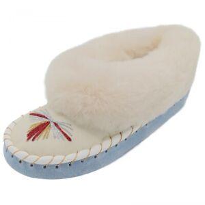 Ladies Lambskin Slippers Moccasin Hannah fur Shoes Slippers Real Sheepskin