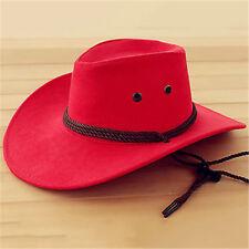 Summer Unisex Sun Caps Hat Wide Brim Straw Beach Western Cowboy Men Cap