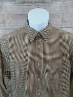Duck Head Men's Plaid Checks Button Down Long Sleeve Shirt 100% Cotton Size XL
