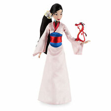 "Disney Store Princess Mulan Classic Doll 12"" w/ Mushu Toy Figure Boxed Set NEW"