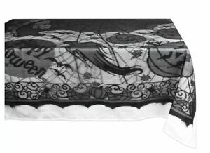 Happy Halloween Lace Tablecloth Black 54x72 inches