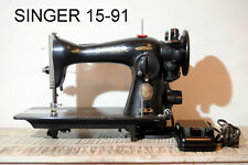 *Serviced* Vintage Direct Drive Heavy Duty Singer Sewing Machine model 15-91