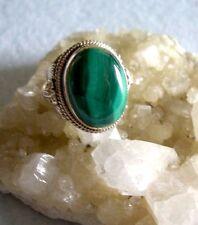 Ring mit Malachit,  925er Silber, Gr. 17,2