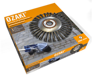 OZAKI WIRE BRUSH WEED REMOVAL HEAD FOR BRUSHCUTTER USE 40CC> 200MM DIAMETER