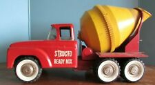 VINTAGE RED STRUCTO READY MIX CONCRETE CEMENT MIXER TRUCK PRESSED STEEL