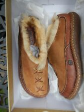 Born Women's Brown Leather Mohawk Slip on Mules Size 9 M New