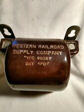 Vintage Western Railroad Supply Company Ceramic  Insulator Type 90387 Dry-Spot