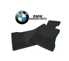 BMW E46 330xi 325xi AWD Front Left & Right Black All Weather Rubber Floor Mats