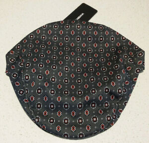 NEW DOLCE & GABBANA Grey Cotton Red Black Printed Newsboy Cap 58 Medium Hat
