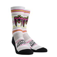 The Ultimate Warrior WWE Striped Mens Print Rock Em Socks Size L/XL