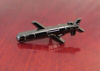 """US Navy Tactical Tomahawk Cruise Missile Nickel Die Cast Lapel Pin 1"""" x 0.5"""""""