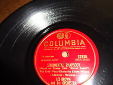 "Columbia 10"" 78/Les Brown/Eileen Wilson/Sentimental Rhapsody/Jumpy Stumpy/E"