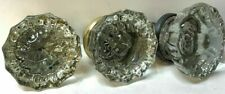 3 Antique Mercury Glass Door Knob Hexagon Victorian Architectural
