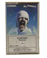 Scorpions - Blackout 1982 (Rare Audio Cassette) Polygram Records - MCR41 4039