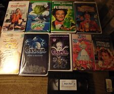 Lot of 10 ASSORTED Family Film VHS Tapes - Walt Disney  Casper  Shirley Temple +