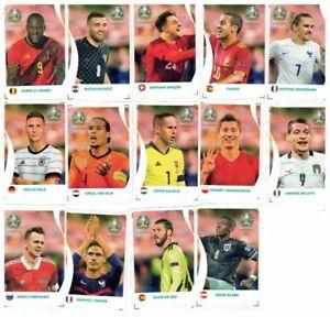 SET COMPLETO FIGURINE SPECIALI COCA COLA RIVALS UNITED C1 - C14 PANINI EURO 2020