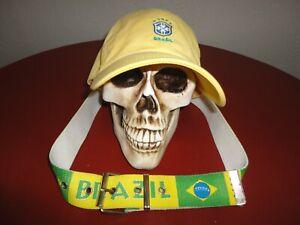Nike Brasil CBF National Team Hat / Belt pre owned 2 items