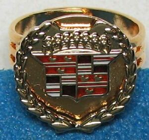 RARE NOS CADILLAC GOLD, SILVER AND CLOISONNE PROMOTIONAL RING PRISTINE #G314