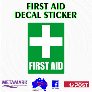 70mm FIRST AID safety decal sticker.Work car,ute,4x4,van,truck,boat,site office