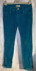 Girls Age 5-6 Years - Gap Skinny Fit Cord Jeans - Side Zips - Blue