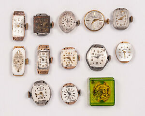 Group of 13 Miscellaneous Women's Watches/Movements for Parts out of Estate!
