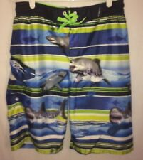 Boys Swin Trunks shorts  Zero X Posur size 18/20 Blue stripe sharks