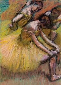 Group of Dancers by Edgar Degas 60cm x 43cm Art Paper Print