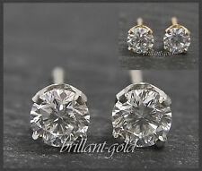 Brillant Diamant Damen Ohrstecker 585 Gold/ 0,15-0,45ct/ River/ Lupenrein, echt