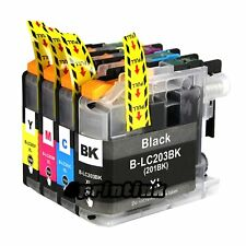 4pk Ink for Lc203 Brother Lc203xl mfc J480dw J460dw J485dw J680dw Lc201 Set