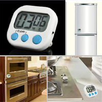 Kitchen Large LCD Digital Cooking Timer Count-Down Up Clock Loud Alarm Magnetic