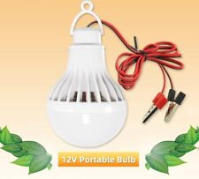 Portable Hang Light Lamp With Clip DC 12V LED Bulb Ultra Bright 3W Camping Tent