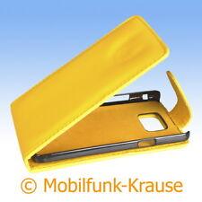 Flip Case Etui Handytasche Tasche Hülle f. Samsung GT-I9100 / I9100 (Gelb)